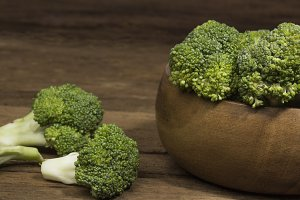 different broccoli florets in bowl