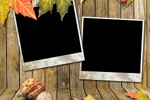 Autumn Leaves and photo frame