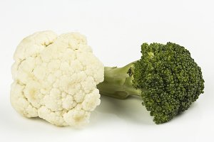 Cauliflower and broccoli