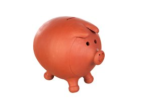Piggy-bank isolated on white
