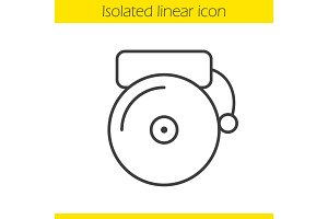 School bell linear icon