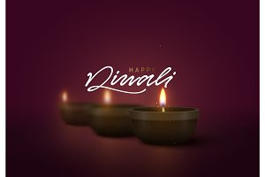 Celebrate Diwali festival of lights. Holiday background Hindu Diwali or Deepavali