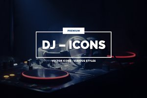 20 DJ Icons in 3 styles