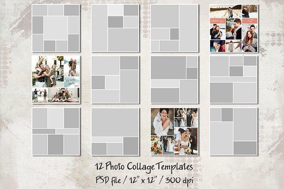 12 storyboard templates 12 x12 card templates creative market