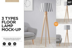 3 Types Floor Lamp Mock-up