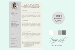 Giulia Rossi Resume Template + Cover
