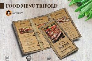 Food Menu Trifold