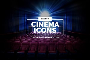 10 Cinema Icons in 3 styles