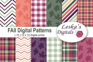 Fall Digital Scrapbook Paper Pack