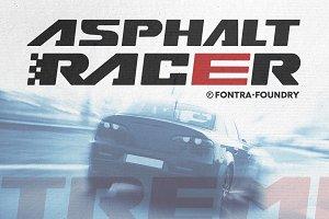 Asphalt Racer font | 50% OFF