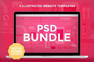 PSD Bundle - 4 Website Templates