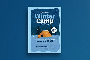 Winter Camp Festival Flyer