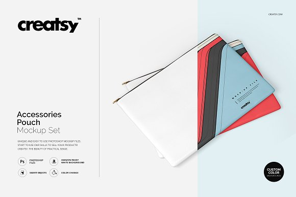 Download Accessories Pouch Mockup Set