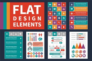 Flat Design Elements & Icons Set