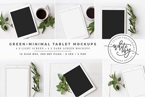 Green + Minimal Tablet Mockup Bundle