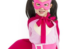 Girl in Superhero suit (PNG)