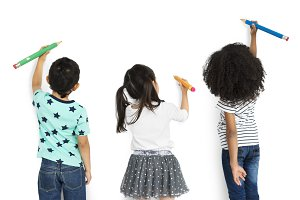 Little Children Drawing (PNG)