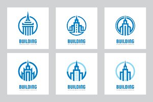 Building Architecture Logo Set