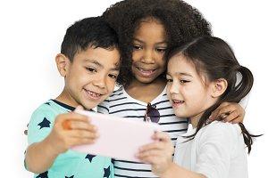 Little Children Selfie Posing (PNG)
