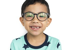 Little Boy Wearing Glasses (PNG)