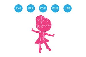 Dancing Ballerina Girl SVG Dance