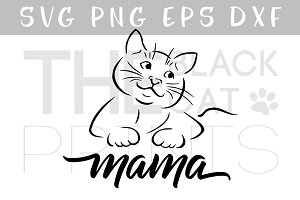 Cat mama SVG DXF PNG EPS