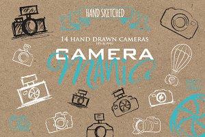 Sketched Cameras clipart