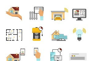 Smart House Flat Icon Set