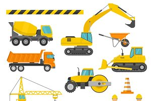Construction Decorative Icons Set