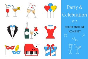 Party & Celebration Icons Set