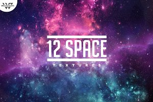 12 GALAXY SPACE Textures vol.1