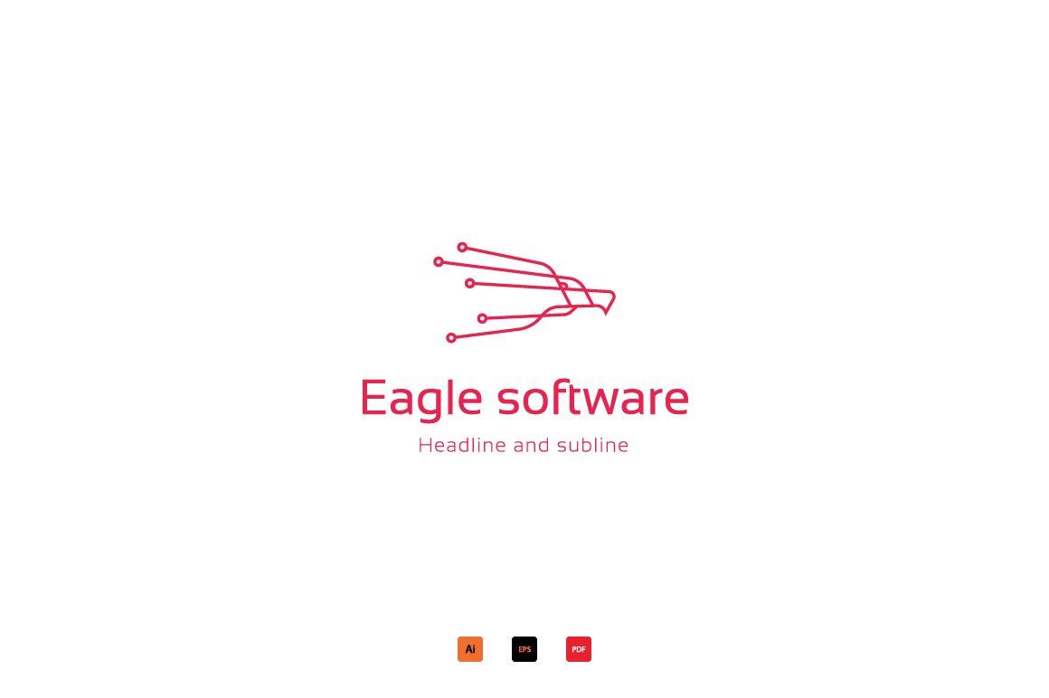 Eagle software logo ~ Logo Templates ~ Creative Market