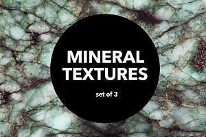 Mineral Textures - set of 3 -  8x12