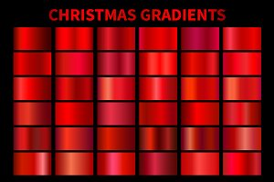 Red Christmas Gradients AI, GRD