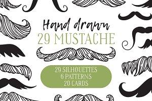 Hand drawn mustache