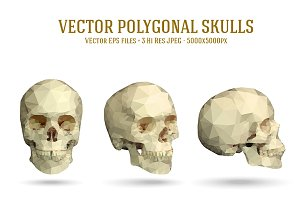 Vector Polygonal Skull Illustrations