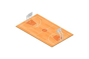 Basketball Field Isometric View