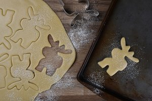 Making Moose Shaped Sugar Cookies
