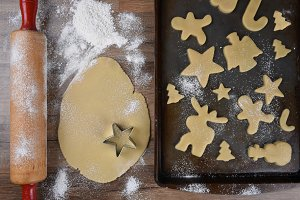 Making Holiday Shaped Sugar Cookies