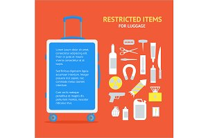 Restricted Items Set in the Suitcase