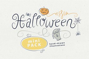 Halloween Hand Drawn illustrations