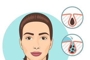 Woman facial treatments