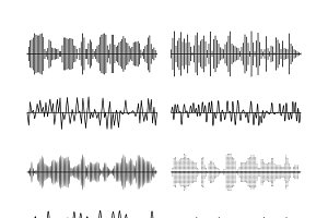 Sound wave forms vector illustration