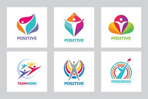 Positive Human Vector Logo Set