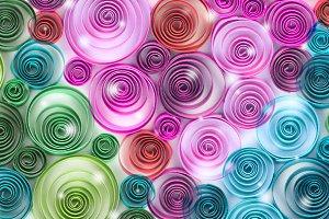 curling palette rainbow paper
