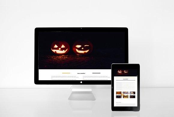 Halloween divi layout website templates creative market halloween divi layout websites maxwellsz