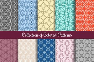 Seamless patterns in vintage style