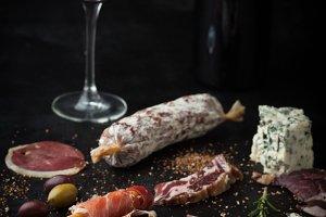 Salami, prosciutto, cheese