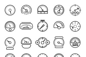 Meter and gauge control icons