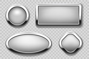 Round chrome button collection